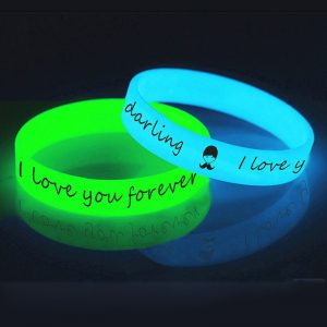 glowing silicone wristband