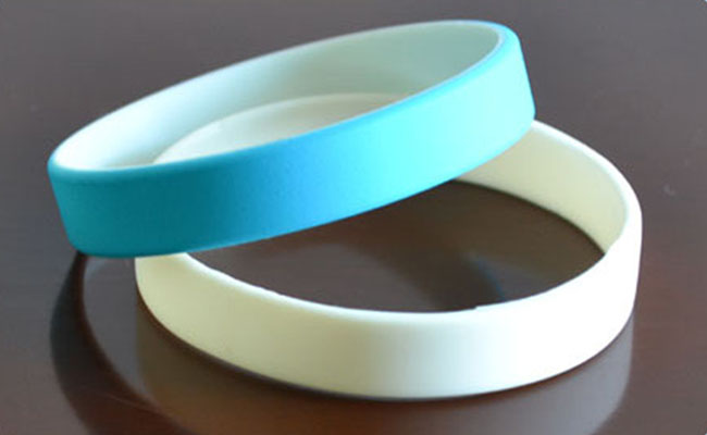 Dual Layer Rubber Wrist Bands