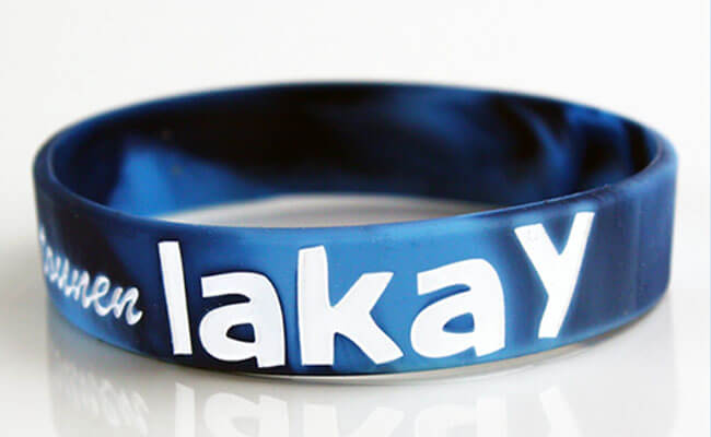 Lakey Swirl Debossed Ink-filled Wristbands