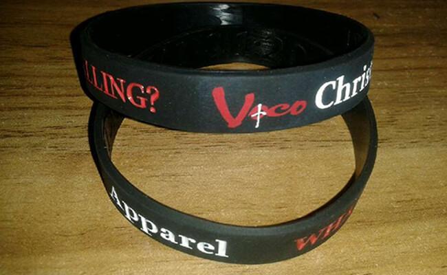 Debossed Color Filled Bracelets