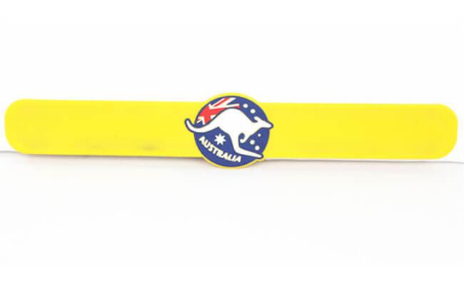 Yellow Slap Bracelets
