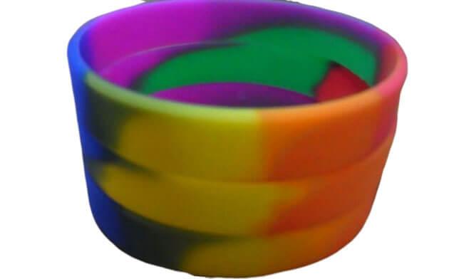 segment silicone wristband