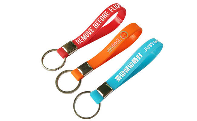 Rubber Keychain Wristbands