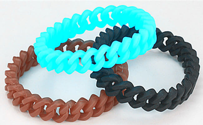 Twisted Wristbands Rubber