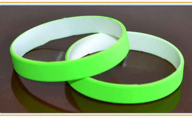 Dual Layer Rubber Bracelets
