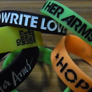 Ink-filled Debossed Wristbands